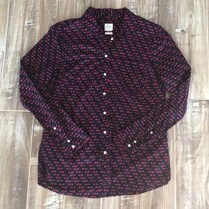 Gap fitted boyfriend shirt, size M